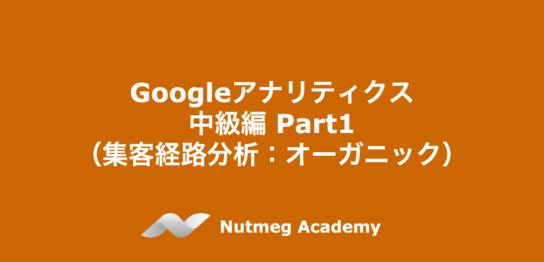 Googleアナリティクス 中級編 Part1 (集客経路分析:オーガニック)